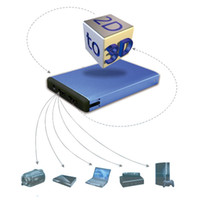 Wholesale 2D to D Conversion Signal Video D Converter TV Movie Multi Media Player
