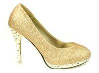 Wholesale 2013 Hot Sale Gold color Style bride wedding shoe Women s High heeled Dress shoes lady gown Shoes