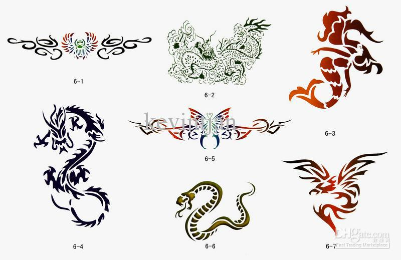 2017 temporary airbrush tattoo stencils book choose 3 books from 20 books from kevintjan 127. Black Bedroom Furniture Sets. Home Design Ideas