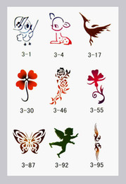 Wholesale Booklet Temporary Airbrush Tattoo Stencils book Template designs Reuseable