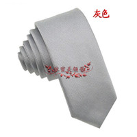 Wholesale Brand Solid Color Hot B03 Grey Silk Woven Classic Stripe Man s Tie Necktie