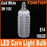 5PCS LOT 5W 108 LED E14 Corn Light Bulb Lighting 110V 220V L...