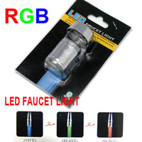 Wholesale LED Faucet Light Waterful FOR Kitchen Bath Bathroom RGB RED GREEN BLUE