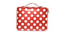 Wholesale Zipper Style Polka Dot DK Deiking Leather Case for ipad ipad2 ipad1 Stand Tablet PC Handbag