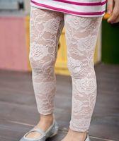 Girl capri pants for girls - Children legging girl lace legging for summer capri pants cropped trousers girl clothes White Black