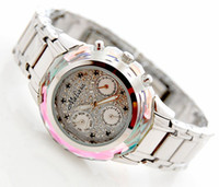 Wholesale Original authentic Hongkong Melissa F6110 Swarovski crystal six pointer Luxurious Lady watch