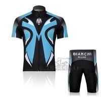 Breathable bianchi shorts - BIANCHI Short Sleeve Cycling Jerseys Set Cycling Wear Clothing Shorts CJ0081