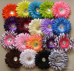 Wholesale 60pcs Gerber baby hair bows Children s clip girl flowers barrettes bands cfg