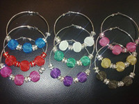Wholesale New Hot sale Colorful Mesh Beads Vogue Basketball Wives Hoop Earrings Mixed order Hot sale
