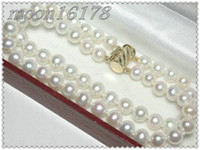 Wholesale New pearl jewelry STD GRADE MM WHITE AKOYA PEARL BRACELET inch