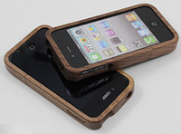 Wholesale Hot the iphone4 iphone4s special wooden phone protective sleeve