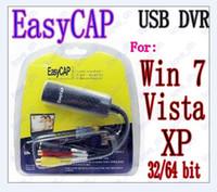 Wholesale 30 Easycap Channel USB Video TV DVR VHS Audio Capture Adapter for win