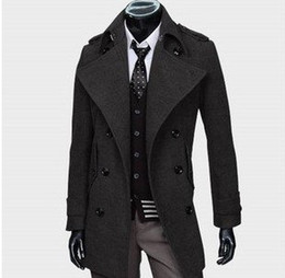 Wholesale New Men s coat man s clothing Fashion coat Thickening Keeping warm overcoat No Color black dark