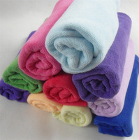 Wholesale 20pcs CM Thicked Superfine fiber towel Microfiber towels Hand Face Towels Strong water imbibiti