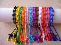 cross bracelets - Catholic Rosary Cross Bracelets Jewelry handmade friendship bracelet Colors Mixed