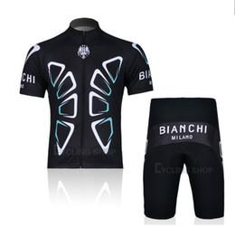 Wholesale BIANCHI Short Sleeve Cycling Jerseys Set Cycling Wear Clothing Shorts CJ0160