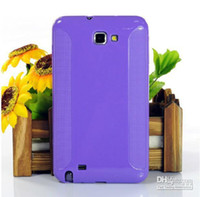 Wholesale Famous Solid Color TPU Case Soft Back Cover Skin Gel Case for Note i9220 N7000 Many Colors