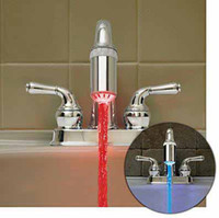 Wholesale Temperature Sensor LED Faucet Stream Light Colors Shower Wiith Connector