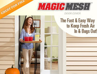 Wholesale New Magic mesh Bugmesh Hot Magnetic Hands free Screen door