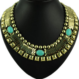 Hot sell ! Women Vintage jewelry Turquoise Charm Watch chain Necklace Jewellery Hot Selling In Europe band choker necklace ,NL-1657