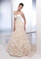 Chapel accent belt - sweetheart ruffle on bodice beaded belt complex ruffle accented a line wedding dresses WD0839