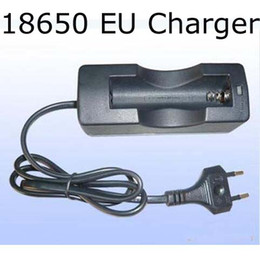 Free DHL 100PCS LOT Quick Charging 18650 Rechargeable EU Euro Battery Charger for all 18650 Battery