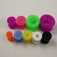 Wholesale 160pcs colorful Multicolored Ear ExpanderTapers earring ear plug UV flesh tunnel piercing body Jewely