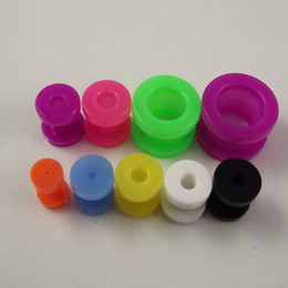 160pcs colorful Multicolored Ear ExpanderTapers earring ear plug UV flesh tunnel piercing body Jewely