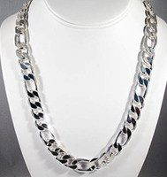 Wholesale sell well Silver fashion Men s Chain Necklace mm inch