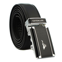 Wholesale Fashion Leather Belt for Men Black Waist men Alloy buckle belt High Quality Real Brand Designer