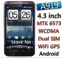 Wholesale MTK6573 A919 g WCDMA GSM screen camera million Android cell phone