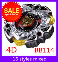 Wholesale Christmas gift Beyblades d BB114 metal master fusion battles top accessories toys