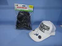 Wholesale Promotional New Solar Power toy Solar fan cap fashion hat can storage electricity