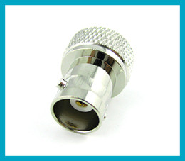 Wholesale 10pcs SMA BNC adapter SMA male Plug to BNC female jack nickelplated RF connector adapter