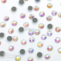 Wholesale Crystal AB Hotfix Rhinestone Flatback SS16 mm for Swarovskis by foksy