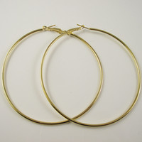 Wholesale pairs Gold Plated Hoop Earrings Fashion Earring Big Hoop Earring