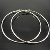Wholesale pairs Silver Plated Hoop Earrings Fashion Earring Big Hoop Earring