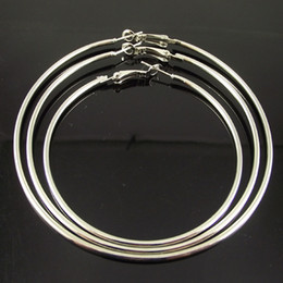Free Shipping 72pcs(36pairs) Silver Plated Hoop Earrings Wholesale Fashion Earring Big Hoop Earring