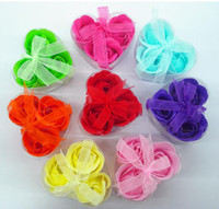 Wholesale Soap Flower Soaps Rose Soap Craft Soap Flower box In Box With Ribbon Bow Gift Colors