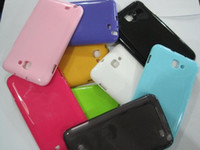 Wholesale Soft TPU Gel Case Back Cover Glossy Shiny Skin for Galaxy Note N7000 i9200 Candy Color