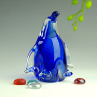 Wholesale Creative Glass Penguin Hand Made Glass Figurine