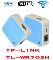 Wholesale 150M Mini WiFi Wireless G Router FOR iPad PC Phone For TP LINK TL WR703N Portable Convinient Router