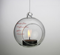 Wholesale 6pcs D CM Hanging Glass Ball Decoration Glass Candle Holder GCH013