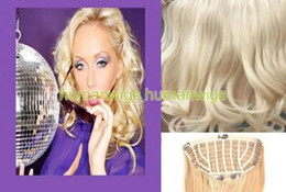 Wholesale 20 quot One Piece Human Hair Clip In Hair Extensions Body Wave