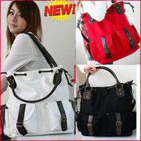 Wholesale 2012 for women canvas new fashion women s Trendy canvas leisure tote big bag handbag colors B0208