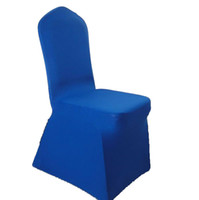 Wholesale spandex chair cover blue pieces per