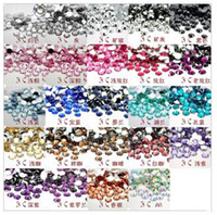 Wholesale Clear Rhinestone crystal for nail art and mobile phone pack flat back mixed colors