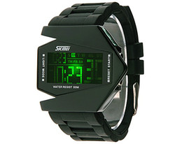 The individuality aircraft waterproof Transformers LED watches fighter models of Skmei 0817