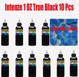Wholesale Hotselling Bottles True Black Intenze OZ Tattoo Ink amp Ink Cups Sent For Free