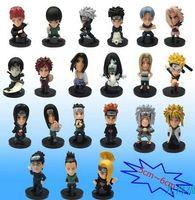 Wholesale 210 set Naruto Dolls Toys Black background doll Cartoon doll model Birthday gift ornaments